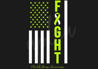 Mental Illness SVG, Mental Illness Awareness SVG, Lime Green Ribbon SVG,Fight Flag svg, Fight Cancer svg, Awareness Tshirt svg, Digital Files