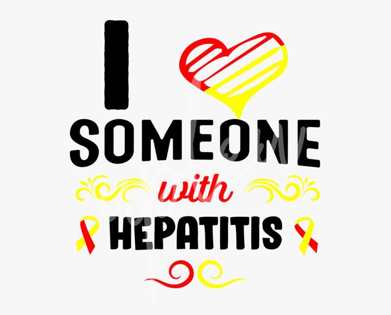 I Love Someone With Hepatitis SVG, Hepatitis Awareness SVG,Teal Ribbon SVG, Fight Cancer svg, Awareness Tshirt svg, Digital Files