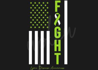 Lyme Disease SVG, Lyme Disease Awareness SVG,Lime Green Ribbon SVG,Fight Flag svg, Fight Cancer svg, Awareness Tshirt svg