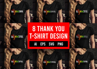 8 Thank You T-Shirt Design Bundle