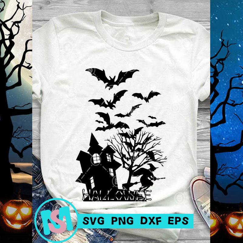 Big Sale Halloween SVG, Happy Halloween SVG, Witch SVG, Cat SVG, Boo SVG, Digital Download