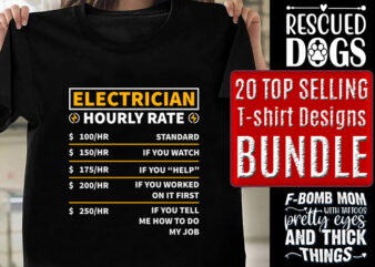 20 Top Selling T-shirt Designs Bundle