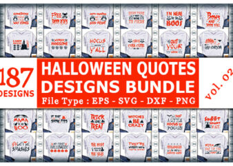 Best Selling Halloween Quotes Tshirt designs Bundle