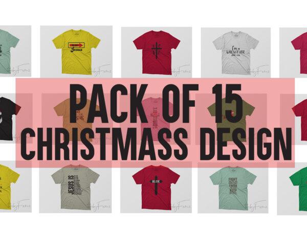 PACK OF 15 CHRISTMASS TSHIRT DESIGN