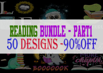 Reading Bundle Part 1 – 50 Designs -90% OFF