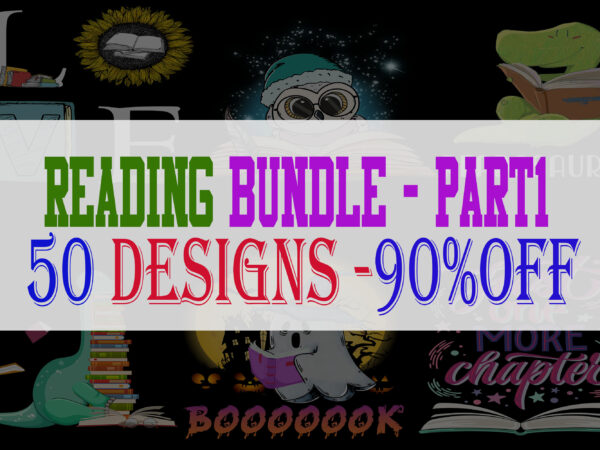 Reading Bundle Part 1 – 50 Designs -90% OFF