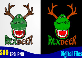 Rexdeer, Merry Christmas svg, Reindeer, Rex, Christmas svg, Funny Christmas design svg eps, png files for cutting machines and print t shirt designs for sale t-shirt design png