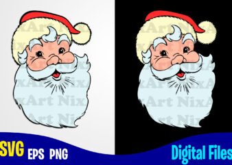 Santa, Santa face svg, Merry Christmas svg, Christmas svg, Funny Christmas design svg eps, png files for cutting machines and print t shirt designs for sale t-shirt design png