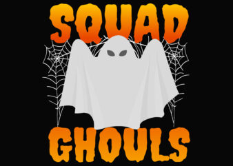 Squad Ghouls Halloween t shirt template vector
