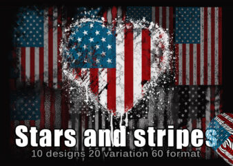 Stars and Stripes t shirt template vector