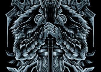 The Viking gods tshirt design