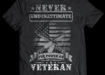 veteran never enderestimate psd file editable tshirt design part2 no 13
