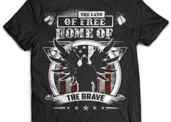 VETERAN the land of free psd file editable tshirt design part2 no 5