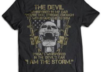 the devil skull army veteran tshirt design psd file editable text#32