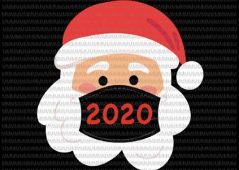 Santa Wearing Mask svg, santa claus mask svg, funny santa claus 2020 svg, chrismats svg, Quarantine Christmas 2020 svg for Cricut Silhouette