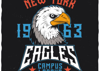 Eagles Campus League. Editable t-shirt design.