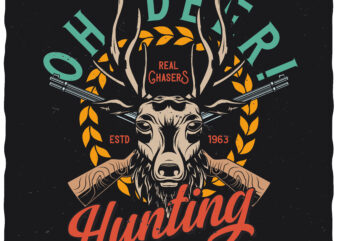 Oh Deer! Editable t-shirt design.