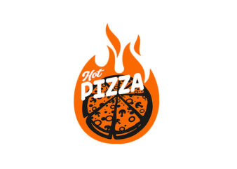 Hot Pizza vector t-shirt design