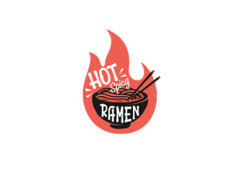 Hot Spicy Ramen vector tshirt design