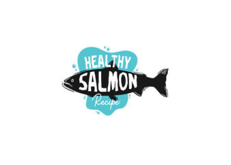 Healthy Salmon Recipe vector tshirt design