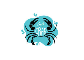 Fresh Crab vector, tshirt design