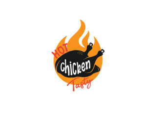 Hot Chicken Tasty vector tshirt design