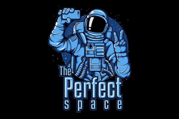 Astronaut Selfie t shirt vector