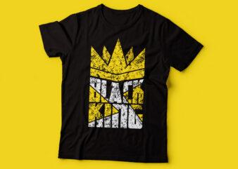 BLACK KING tshirt design | black man tshirt design