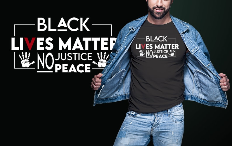8 BLM Black Lives Matter white and black png, jpeg and PSD File editable text