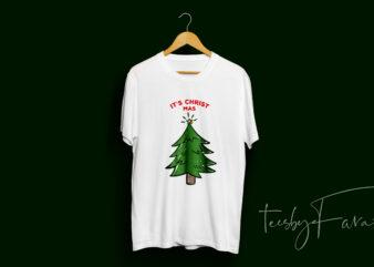 It's Christ-Mas Unique idea t shirt design for sale