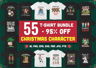 55 Special Christmas Character Bundle – 95% Off – All style!!!