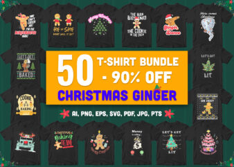 50 Special Christmas Ginger Bundle – 90% Off – All style!!!