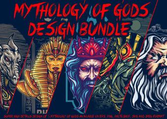 Mythology of Gods design bundle