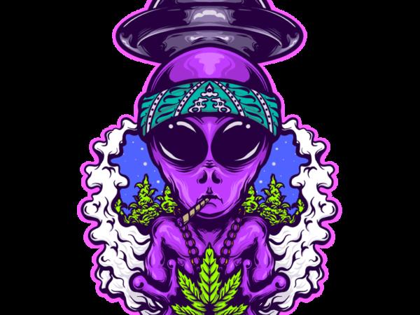 alien gangsta t shirt vector
