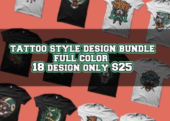 tattoo style design bundle tshirt design