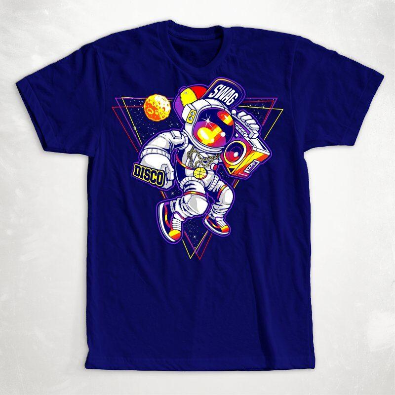 Astronaut T-shirt Designs Bundle Part 2