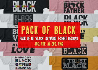 Black Keyword T shirt Designs | Vector art with source files