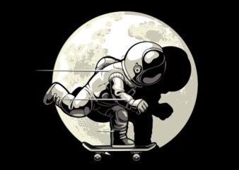 Astronaut and skateboard