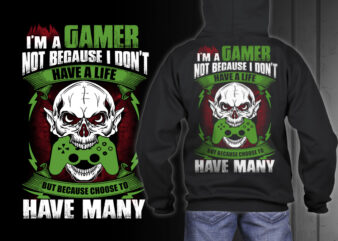 GAMER 1 Tshirt Designs PSD editable text and layers