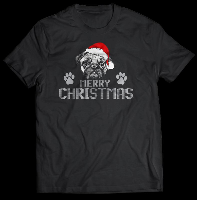 108 CHRISTMAS tshirt designs bundles jpg png and psd editable text layers