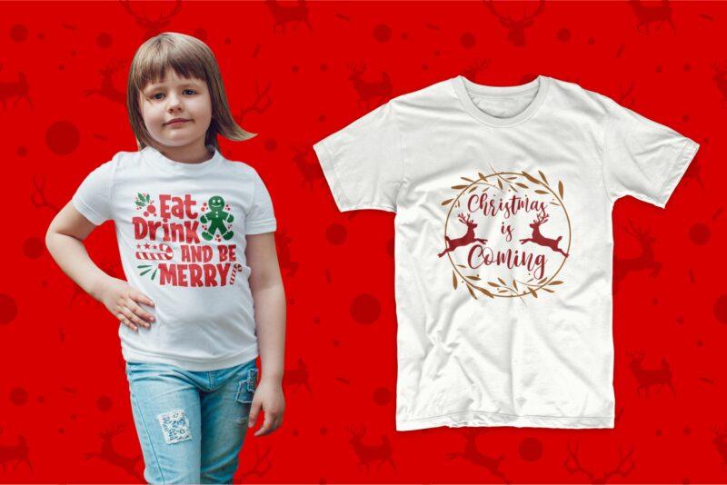 Christmas t shirt design. T shirt design for christmas. Christmas svg bundle. Christmas typography. Lettering t-shirt designs bundle pack collection. Trendy kids t shirts design. Christmas t-shirt design bundle PSD SVG PNG EPS