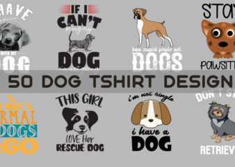 50 Dog Tshirt Graphic graphic t-shirt design