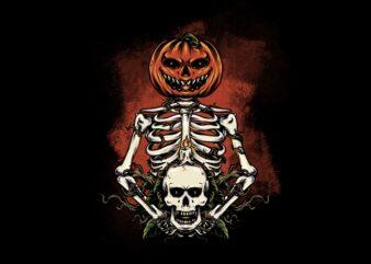 Pumpkin & Skull
