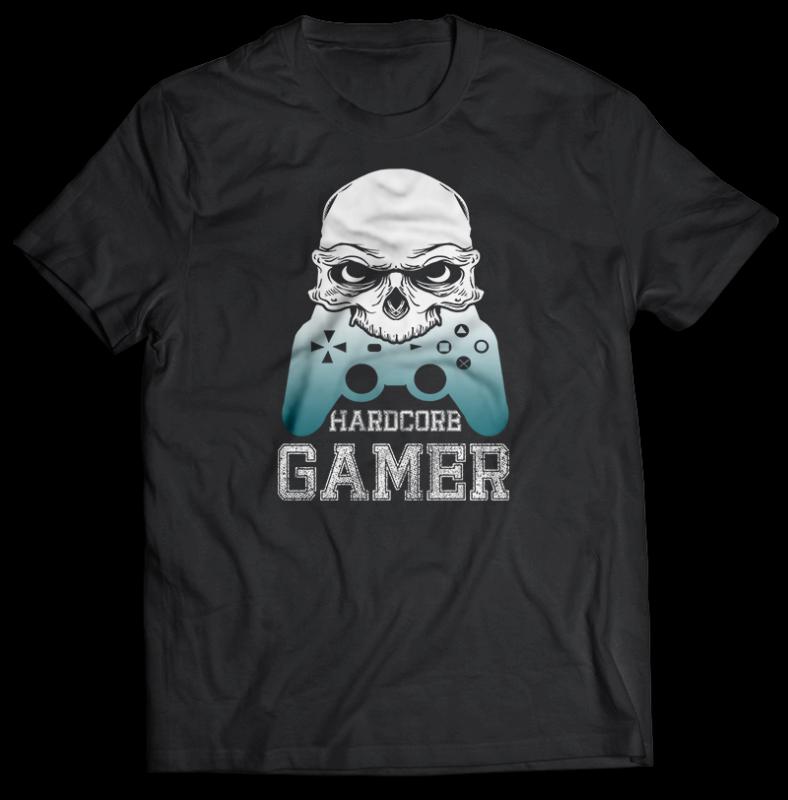 71 GAMER Gaming Tshirt best of gamer 2020 designs bundle editable PSD NEW REVISION