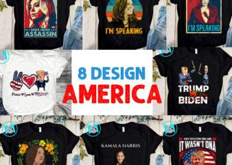 America PNG, Kamala Harris PNG, Biden Harris PNG, Donald Trump PNG, Digital Download