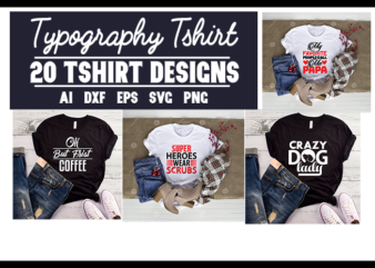 20 best typography t-shirt designs bundle
