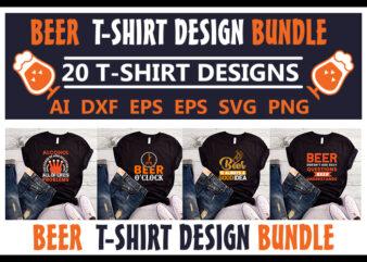 20 best selling beer bundle t-shirt design for commercial use