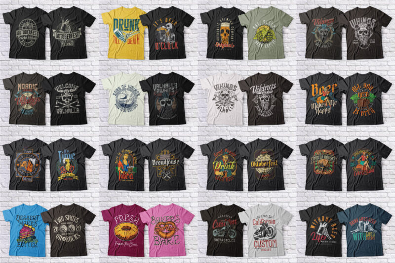 Huge 623 T-shirt Designs Bundle