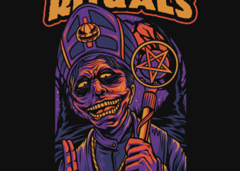 Night Rituals Halloween Theme T-Shirt Design