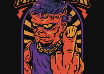 Mad Frank Halloween Theme T-Shirt Design